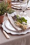 Table setting for wedding reception Stock Photo - Premium Royalty-Free, Artist: Photocuisine, Code: 6113-06625660