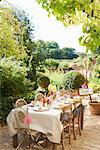 Table set for outdoor wedding reception Stock Photo - Premium Royalty-Free, Artist: Karen Whylie, Code: 6113-06625674