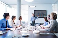 Business people talking in meeting Stock Photo - Premium Royalty-Freenull, Code: 6113-06625755