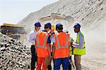 Workers talking in quarry Stock Photo - Premium Royalty-Free, Artist: CulturaRM, Code: 6113-06625843