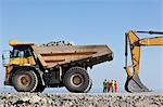 Workers and machinery in quarry Stock Photo - Premium Royalty-Free, Artist: Cultura RM, Code: 6113-06625888