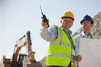 Businessmen talking in quarry Stock Photo - Premium Royalty-Freenull, Code: 6113-06625932