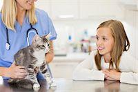 preteen girl pussy - Veterinarian examining cat in vet's surgery Stock Photo - Premium Royalty-Freenull, Code: 6113-06626462