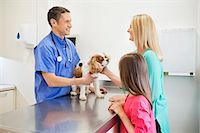 Veterinarian and owners examining dog in vet's surgery Stock Photo - Premium Royalty-Freenull, Code: 6113-06626496