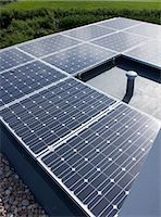 Close up of solar panels outdoors Stock Photo - Premium Royalty-Freenull, Code: 6113-06626736