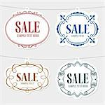 Four color sale tags Stock Photo - Royalty-Free, Artist: Denis_Barbulat                , Code: 400-06627330