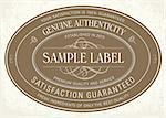 Vector Classic Seal Frame. Easy to edit. Perfect for labels, invitations or announcements. Stock Photo - Royalty-Free, Artist: createfirst                   , Code: 400-06627517