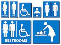 Vector illustration toilette sign Stock Photo - Royalty-Freenull, Code: 400-06627956