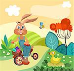 vector illustration of a easter illustration Stock Photo - Royalty-Free, Artist: nem4a                         , Code: 400-06627965