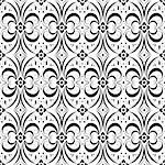Beautiful background of seamless floral pattern Stock Photo - Royalty-Free, Artist: inbj                          , Code: 400-06628742