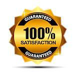 Vector 100% satisfaction guaranteed  label . Stock Photo - Royalty-Free, Artist: yganko                        , Code: 400-06628961