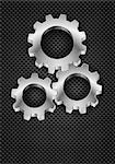 Realistic Gearwheel. Illustration on black for design Stock Photo - Royalty-Free, Artist: dvarg                         , Code: 400-06629181