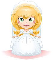 A vector illustration of a bride dressed for her wedding day. Stock Photo - Royalty-Freenull, Code: 400-06629391