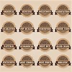 set of 16 labels; vintage style Stock Photo - Royalty-Free, Artist: dip                           , Code: 400-06629521