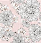 Seamless floral pattern. Background with flowers and leafs. Stock Photo - Royalty-Free, Artist: lapesnape                     , Code: 400-06629567