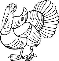 Black and White Cartoon Illustration of Funny Turkey Farm Bird Animal for Coloring Book Stock Photo - Royalty-Freenull, Code: 400-06630225
