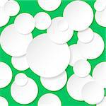 Seamless texture circles. Illustration for design on green background. Stock Photo - Royalty-Free, Artist: dvarg                         , Code: 400-06630412