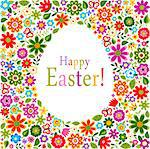 floral card easter celebration Stock Photo - Royalty-Free, Artist: pauljune                      , Code: 400-06630438