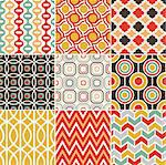 retro seamless pattern Stock Photo - Royalty-Free, Artist: pauljune                      , Code: 400-06630549