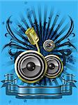 abstract illustration with a pattern on a musical theme Stock Photo - Royalty-Free, Artist: Brux                          , Code: 400-06631121