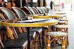 Street view of a coffee terrace with tables and chairs,paris France Stock Photo - Royalty-Free, Artist: ilolab                        , Code: 400-06631256