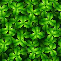 Seamless Shamrock Background, Vector Pattern Stock Photo - Royalty-Freenull, Code: 400-06631657