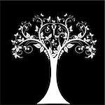 Art tree isolated on white background Stock Photo - Royalty-Free, Artist: inbj                          , Code: 400-06631895