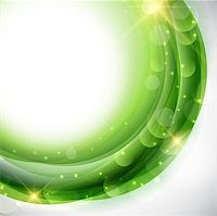 Abstract circular design using shades of green Stock Photo - Royalty-Freenull, Code: 400-06632090