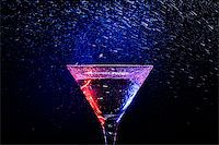 colourful coctail on the black background Stock Photo - Royalty-Freenull, Code: 400-06638943