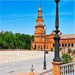 A view of Plaza de Espana in Seville, Spain Stock Photo - Royalty-Free, Artist: nito                          , Code: 400-06639310