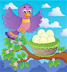 Bird topic image 1 - vector illustration. Stock Photo - Royalty-Free, Artist: clairev                       , Code: 400-06639451
