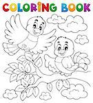 Coloring book bird theme 2 - vector illustration. Stock Photo - Royalty-Free, Artist: clairev                       , Code: 400-06639467