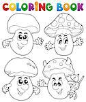 Coloring book mushroom theme 1 - vector illustration. Stock Photo - Royalty-Free, Artist: clairev                       , Code: 400-06639468