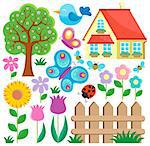 Garden theme collection 1 - vector illustration. Stock Photo - Royalty-Free, Artist: clairev                       , Code: 400-06639472