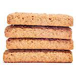 a pile of digestive biscuits on a white background Stock Photo - Royalty-Free, Artist: nito                          , Code: 400-06642401