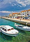 Adriatic town of Biograd na moru colorful waterfront and harbor Stock Photo - Royalty-Free, Artist: xbrchx                        , Code: 400-06642810