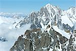 Mont Blanc mountain massif summer landscape(view from Aiguille du Midi Mount,  France ) Stock Photo - Royalty-Free, Artist: Yuriy                         , Code: 400-06643806