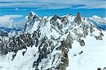 Mont Blanc mountain massif summer landscape(view from Aiguille du Midi Mount,  French ) Stock Photo - Royalty-Free, Artist: Yuriy                         , Code: 400-06643807