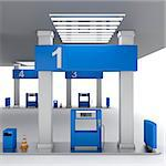Front view of fuel pump in petrol station Stock Photo - Royalty-Free, Artist: mileatanasov                  , Code: 400-06644233