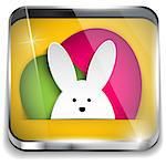 Vector - Happy Easter Glossy Application Button Stock Photo - Royalty-Free, Artist: gubh83                        , Code: 400-06644630