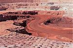 Large, open-pit iron ore mine showing the various layers of soil and iron rich ore Stock Photo - Royalty-Free, Artist: EcoShow                       , Code: 400-06645233