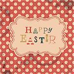 Happy easter retro greeting card. Vector, EPS10 Stock Photo - Royalty-Free, Artist: pashabo                       , Code: 400-06645454