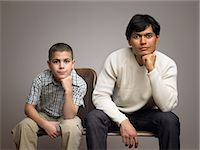 Father and son Stock Photo - Premium Royalty-Freenull, Code: 6114-06646124