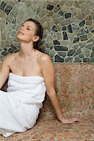Woman relaxing at spa Stock Photo - Premium Royalty-Freenull, Code: 6114-06646259