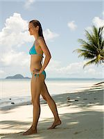 paradise (place of bliss) - Woman on a beach Stock Photo - Premium Royalty-Freenull, Code: 6114-06646866