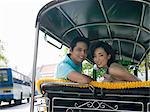 Couple riding in a tuk-tuk Stock Photo - Premium Royalty-Free, Artist: Robert Harding Images    , Code: 6114-06647745