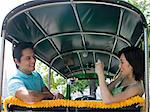 Couple in a tuk-tuk Stock Photo - Premium Royalty-Free, Artist: Blend Images, Code: 6114-06647761