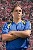 footballeur - Portrait of a footballer Stock Photo - Premium Royalty-Freenull, Code: 6114-06647783