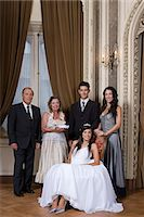 Quinceanera girl and family Stock Photo - Premium Royalty-Freenull, Code: 6114-06648135