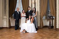 Quinceanera girl and family Stock Photo - Premium Royalty-Freenull, Code: 6114-06648173